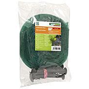 Laubschutz-Netz 5x4m mit 10 Netzhaltern, grün
