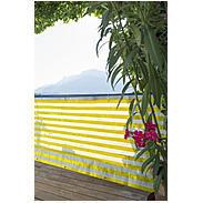 Balkonblende Ibiza 5x0,9m, gelb/weiß