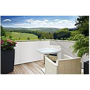 Balkonblende Sylt 5x0,9m, weiß