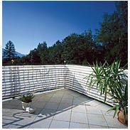 Balkonblende Sylt 5x0,9m, grau/weiß