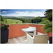 Balkonblende Sylt 5x0,9m, terracotta