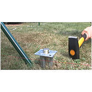Zauneck-Set Draht, grün, zA, für Zaunhöhe 800 mm