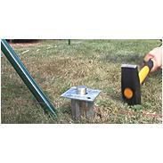Zauneck-Set Draht, grün, zA, für Zaunhöhe 1750 mm