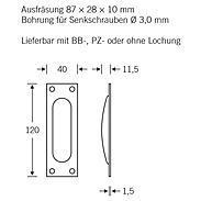 FSB Einlaßmuschel 42 4211 Messing poliert
