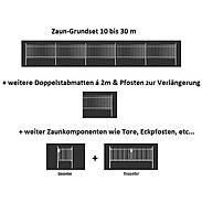 10m Doppelstabmatte-Set 6-5-6, grün, 2000x1000