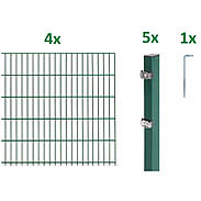 10m Doppelstabmatte-Set 6-5-6, grün, 2000x1200