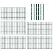 10m Doppelstabmatte-Set 6-5-6, grün, 2000x1400