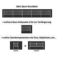 10m Doppelstabmatte-Set 6-5-6, anth, 2000x1000