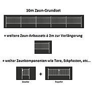 10m Doppelstabmatte-Set 6-5-6, anth, 2000x1400