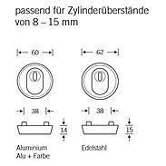 FSB Schutzrosette 73 7393 ZA Edelstahl fein matt