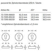 FSB Schutzrosette 73 7395 PZ Bronze Höhe 14,5mm