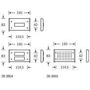 FSB Klingelplatte 38 3864 zweit. Aluminium F1