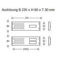 FSB Sprech/Klingelplatte 38 3866 eint. Edel. matt