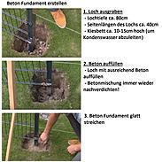 Zaunpfosten + Flacheisen anth, 60x40x2600, 400 mm
