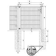 GAH Stabgitter Einzeltor FLEXO fvz 1000 x 1200 mm
