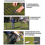 GAH Stabgitter Einzeltor FLEXO anth 1000 x 1800 mm