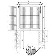 GAH Stabgitter Einzeltor FLEXO anth 1250 x 1200 mm