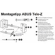 ABUS Tele-Z 220 W AL0125 Teleskopstange weiß