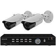 Monacor AXZ-204BV Video-Überwachungsset 4-Kanal