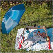 reer Sonnenschirm ShineSafe mit UV-Schutz marine