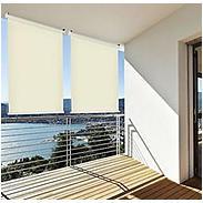 Sonnenschutz Außenrollo Balkon 140x230 cm, creme