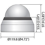 Hanwha SPB-IND6 Kuppel getönt für Dome