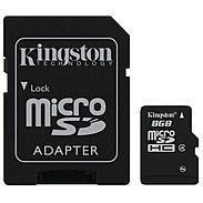 Kingston microSD Card 8GB + Adapter