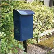Safepost 14 kleiner Sicherheitsbriefkasten blau