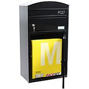 Safepost 48 Briefkasten mit Paketfach schwarz