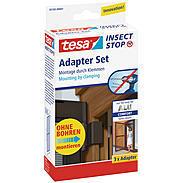 tesa® Fliegengitter Adapterset Alu Comfort braun