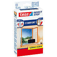tesa® Fliegengitter Fenster 130x130 anthrazit