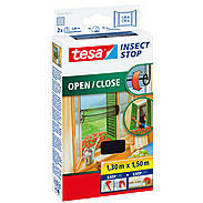 tesa® Fliegengitter Open Close 130x150 anthrazit