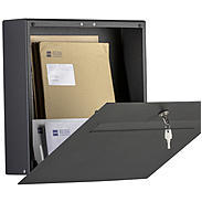 Heibi Briefkasten Scatalux 64489-039 Grafitgrau