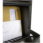 Heibi Briefkasten Trako 64056-027 Schwarz / Gold