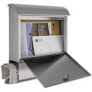 Heibi Briefkasten mit Zeitungsfach 43802 Edelstahl