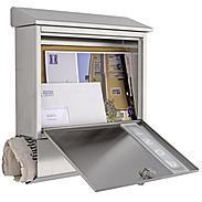 Heibi Briefkasten mit Zeitungsfach 43835 Edelstahl