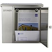 Heibi Briefkasten mit Zeitungsfach 43661 Edelstahl