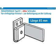 2er Set 3S Mauerkralle weiß 85mm