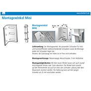 3S Montagewinkel Mini für die Halterung 1.06.1