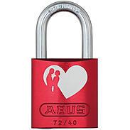 ABUS Aluminium-Vorhangschloss 72/40 rot LoveLock 6
