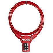 Masterlock 8229 rot Kabelschloss Zahlencode