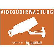 LUPUS Aufkleber Achtung Videoüberwachung