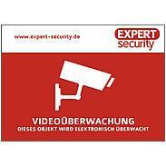 "Video Aufkleber 74x105mm - ""Videoüberwachung"""