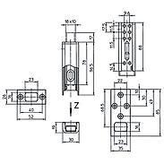 IKON Riegel für Protectorriegel DRS 1080 WS