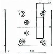 IKON Schließkastenblech 1938,VAR=1475168, 5 Stück