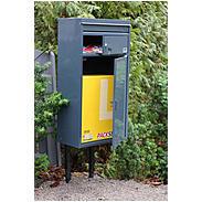 Safepost 65 Briefkasten mit Paketfach sillbergrau