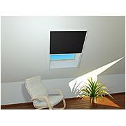 Sonnenschutz-Dachfenster-Plissee 110x160cm, weiß