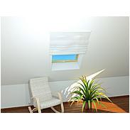 Dachfenster-Insektenschutz Basic 110 x 160 cm weiß