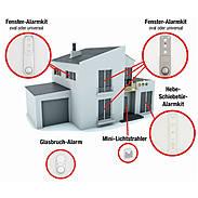 GLORIA Fenster-Alarmkit oval, silber