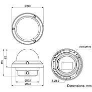 Eneo IPD-72A0003M0B IP-Kamera T/N IR PoE IP67 IK10
